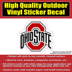 Ohio State Buckeyes football Vinyl Car Window Laptop Bumper Sticker Decal