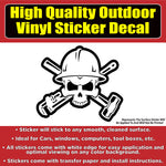 Oil Field Skulls, Skull Vinyl Car Window Laptop Bumper Sticker Decal Hat Hat Sticker