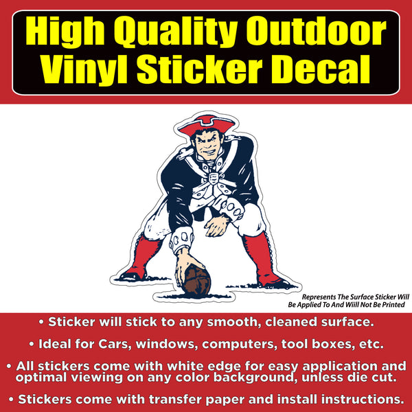 1985 New England Patriots Vinyl Bumper Car Window Laptop Decal Sticker