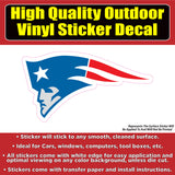 New England Patriots Red White Blue Vinyl Car Window Laptop Bumper Sticker Decal
