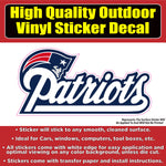 New England Patriots Vinyl Car Window Laptop Bumper Sticker Decal
