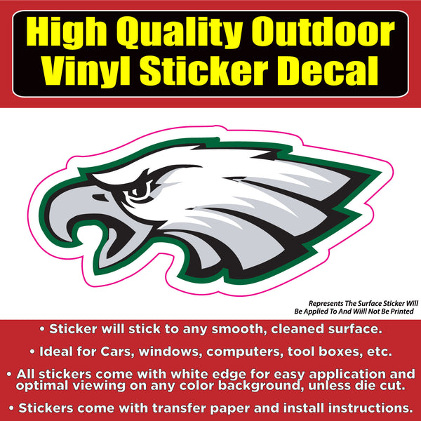 Philadelphia Eagles - Philly Eagle vinyl sticker decal - 2 styles and several sizes available