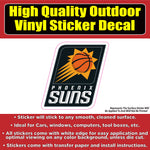 Phoenix Suns Basketball Vinyl Car Window Laptop Bumper Sticker Decal