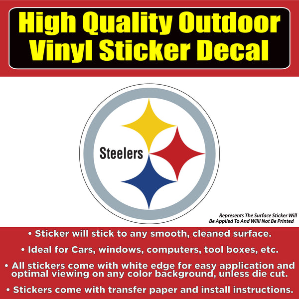 Pittsburgh Steelers Vinyl Car Window Laptop Bumper Sticker Decal