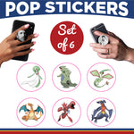 Pokemon Pop Sticker- Set of 6