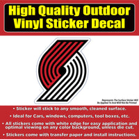 Portland Trailblazers Basketball Vinyl Car Window Laptop Bumper Sticker Decal