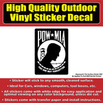 P.O.W. Prisoner of War Vinyl Vehicle Car Window Bumper Sticker Decal