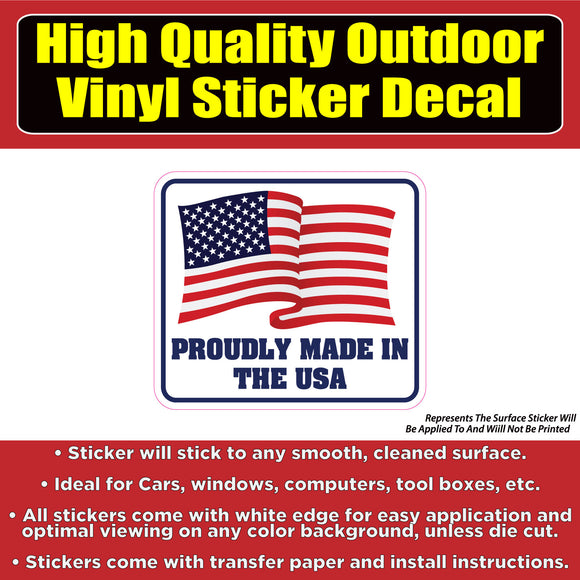Proudly Made In the USA Vinyl Car Window Laptop Bumper Sticker Decal - Colorado Sticker
