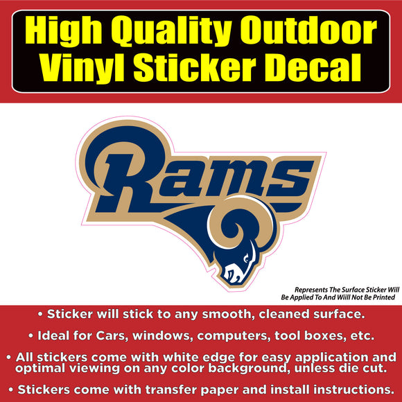 Los Angeles Rams Vinyl Car Window Laptop Bumper Sticker Decal - Colorado Sticker