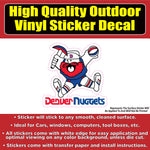 Retro Old School Denver Nuggets Miner Vinyl Car Window Laptop Bumper Sticker Decal