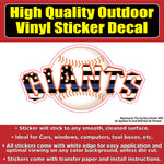 San Francisco Giants Thin Blue Line Baseball Team Vinyl Car Window Bumper Sticker Decal