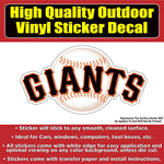 San Francisco Giants Baseball Team Vinyl Car Window Laptop Bumper Sticker Decal