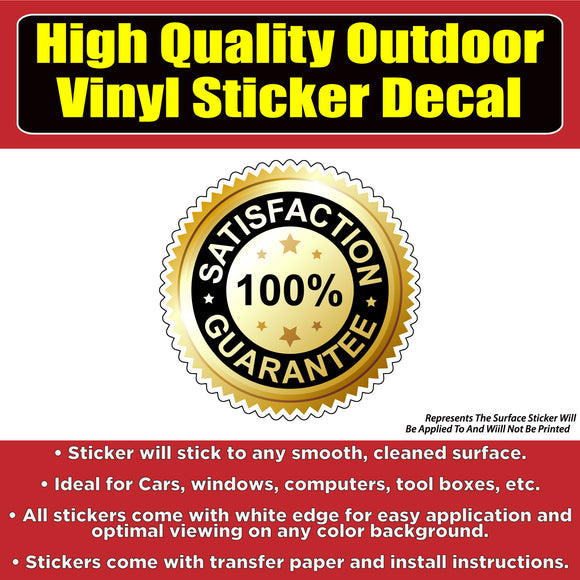 100% Satisfaction Guarantee Seal Business Sign Banner Vinyl Business Sticker Decal - Colorado Sticker
