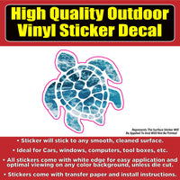 Sea Turtle Vinyl Car Window Laptop Bumper Sticker Decal