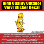 Simpson's Bart, Lisa and Maggie Vinyl Car Window Laptop Bumper Sticker Decal