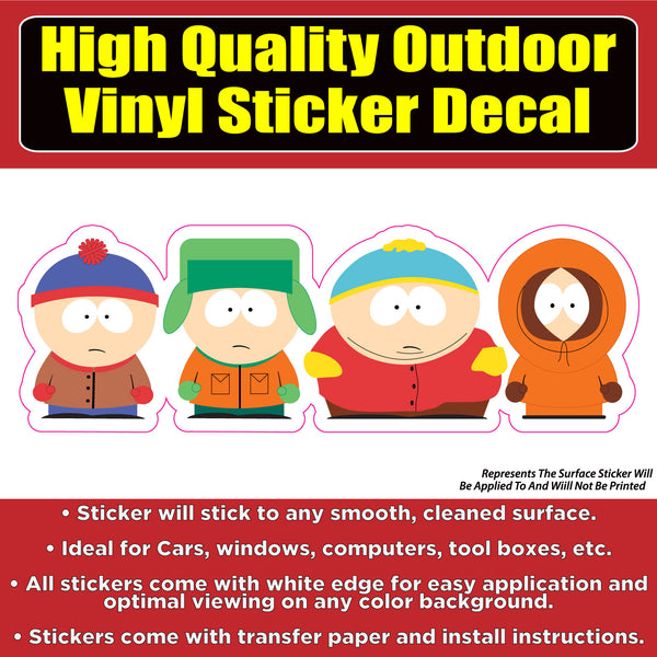 South Park Kids Vinyl Indoor Outdoor Waterproof Window Decal