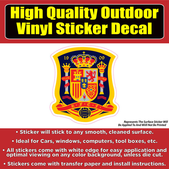 Spain Soccer Football Vinyl Car Window Laptop Bumper Sticker Decal - Colorado Sticker