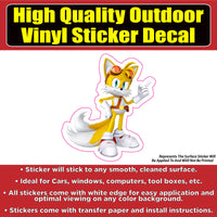 Tails Sonic the Hedgehog Car Window Bumper Sticker Decal