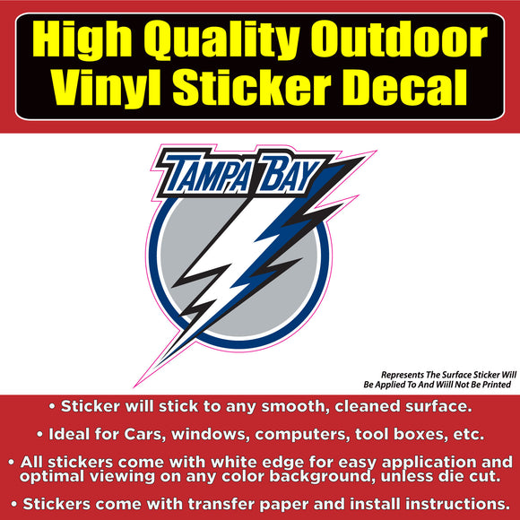 Tampa Bay Lightning - Hockey Vinyl Car Window Laptop Bumper Sticker Decal - Colorado Sticker