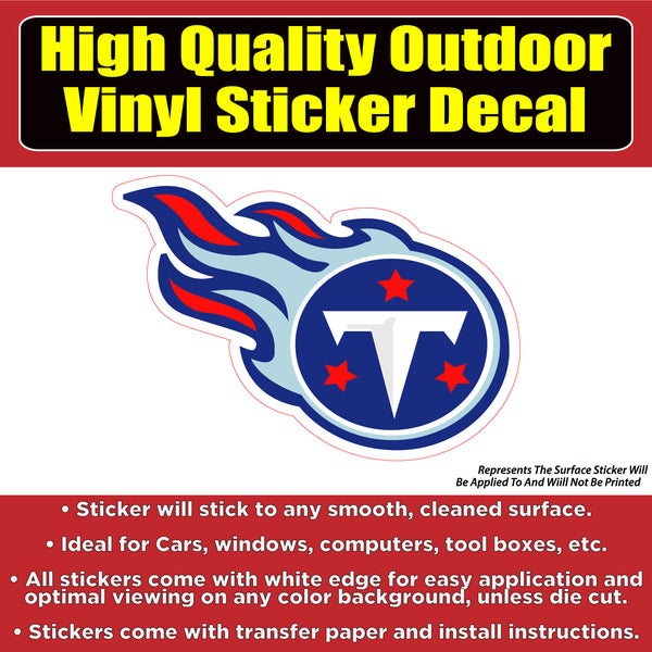 Tennessee Titans Vinyl Bumper Car Window Laptop Decal Sticker