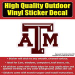 Texas A and M University Vinyl Bumper Window Car sticker decal