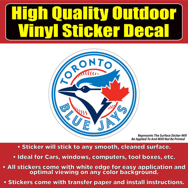 Toronto Blue Jays Baseball Vinyl Car Window Laptop Bumper Sticker Decal