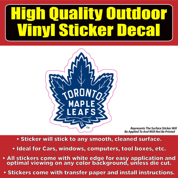 Toronto Maple Leafs - Hockey Vinyl Car Window Laptop Bumper sticker decal