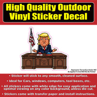 Donald Trump McDonald's or KFC Button Car Window Laptop Bumper Sticker Decal