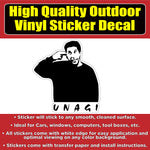 FRIENDS Ross Unagi Vinyl Window Laptop Bumper Sticker Decal