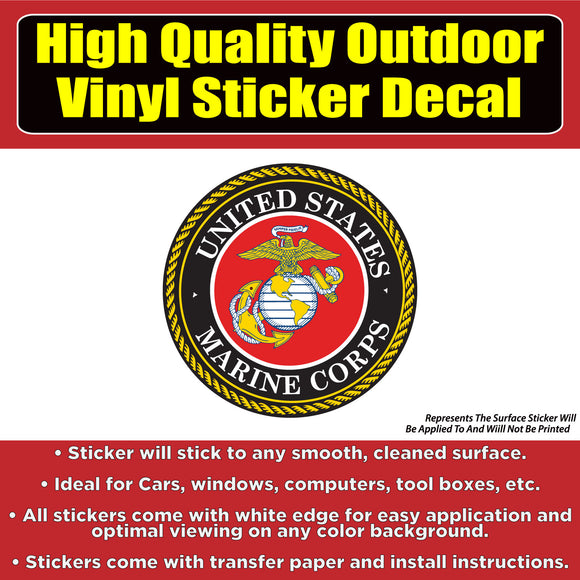 United States Marine Corps Vinyl Car Window Laptop Bumper Sticker Decal - Colorado Sticker