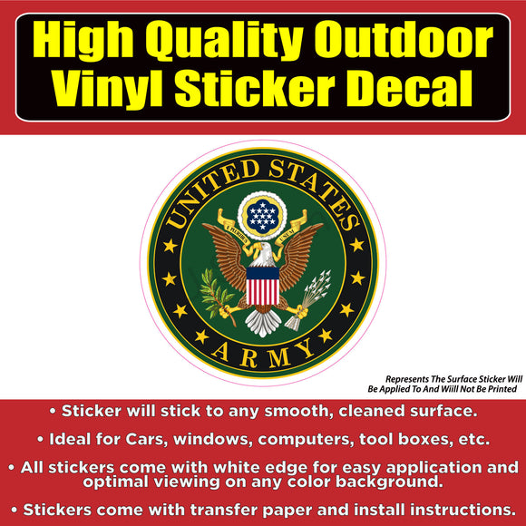 United States Army Eagle Vinyl Car Window Laptop Bumper Sticker Decal - Colorado Sticker