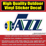 Utah Jazz Basketball Vinyl Car Window Laptop Bumper Sticker Decal