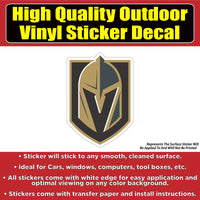 Vegas Golden Knights Hockey Vinyl Car Window Laptop Bumper sticker decal