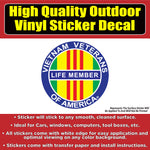 Vietnam Veteran Once Strangers Forever Brothers Life Member Vinyl Car Window Bumper Sticker Decal