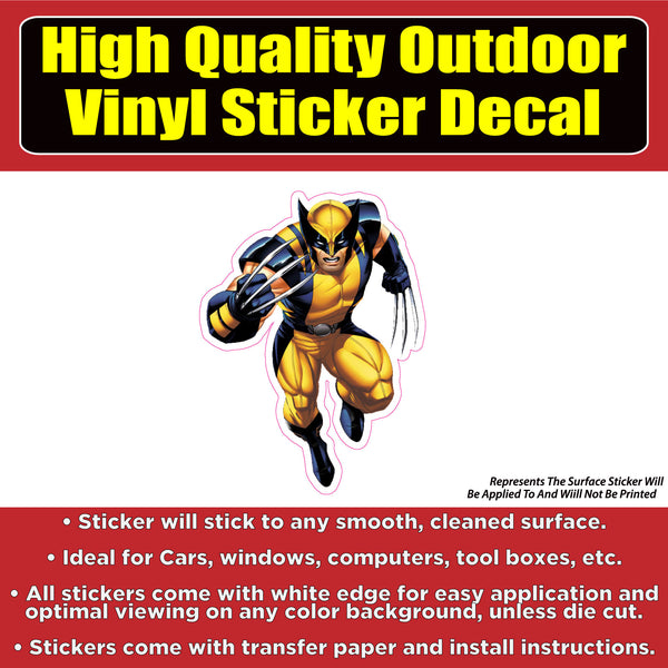 The Wolverine Car Window Bumper Sticker Decal