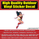Wonder Woman Car Window Bumper Sticker Decal