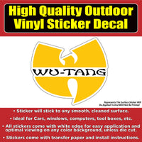 Wu-Tang Vinyl Car Window Laptop Sticker Decal