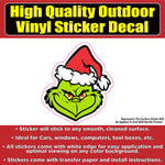 The Grinch Vinyl Car Window Laptop Bumper Sticker Decal