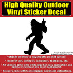 Sasquatch Yeti Flipping Bird Vinyl Car Window Laptop Bumper Sticker decal