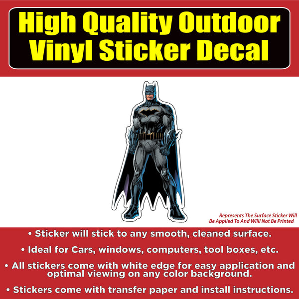 Batman Standing Vinyl Car Window Bumper Sticker Decal