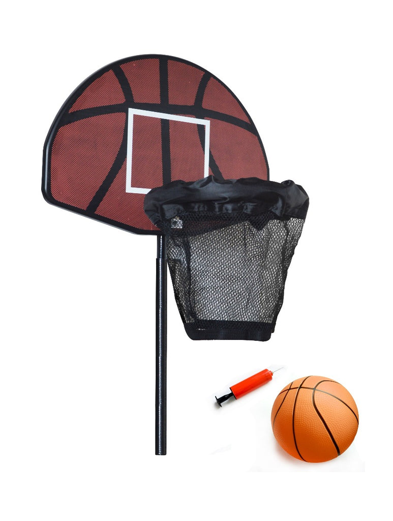 Trampoline Basketball Hoop Ring Backboard Ball Set - Kids Ride On Cars