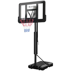 Everfit 3.05M Basketball Hoop Stand System Ring Portable Net Height Adjustable Black - Kids Ride On Cars