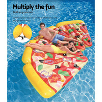 Bestway Inflatable Swimming Pool Pizza Slice Water Float Raft Lounge Toy Bed - Kids Ride On Cars