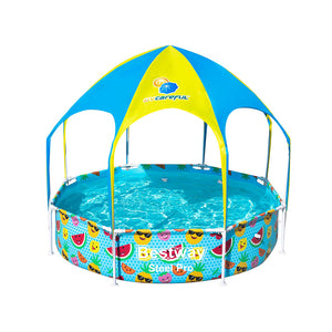 Bestway Above Ground Swimming Pool with Mist Shade - Kids Ride On Cars
