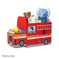 Kids Toy Storage Box - Red - Kids Ride On Cars