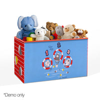 Kids Storage Toy Box Foldable Organiser - Blue - Kids Ride On Cars