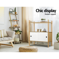 Artiss Display Cabinet Storage Shelves Cupboard Table Sideboard Buffet - Kids Ride On Cars