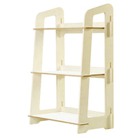 Artiss Kids Bookshelf Children Ladder Shelf Toy Display 3 Tier - Kids Ride On Cars