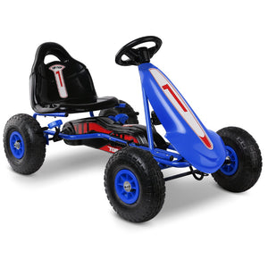 Pedal Powered Go Kart with Front Guard - Super Blue - Kids Ride On Cars