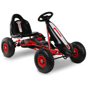 Pedal Powered Go Kart with Front Guard - Super Red - Kids Ride On Cars